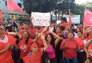 Temer enfrenta protesto de sem-teto durante evento em SP Foto: Marcos Alves / O Globo