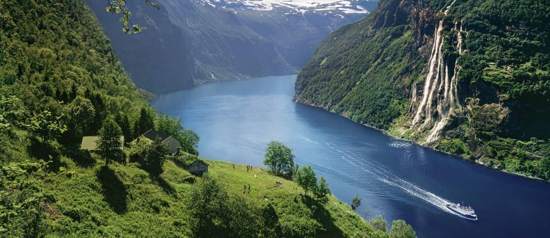 Fiorde de Geiranger, o mais conhecido e um dos mais bonitos da Noruega Foto: Per Eide/Visitnorway.com / Divulgação