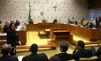 Plenário do STF durante votação sobre a Lei da Ficha Limpa - 04/10/2017