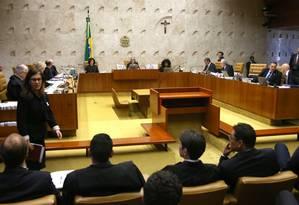Plenário do STF durante votação sobre a Lei da Ficha Limpa - 04/10/2017 Foto: Givaldo Barbosa / Agência O Globo