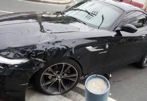 A BMW de Victor Luis Foto: Reprodução