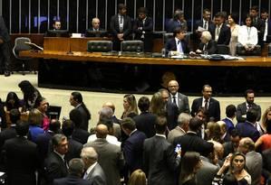 Plenário da Câmara durante discussão e votação da reforma política Foto: Givaldo Barbosa / Agência O Globo