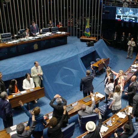 O plenário do Senado Foto: Jorge William / Agência O Globo / 4-10-17