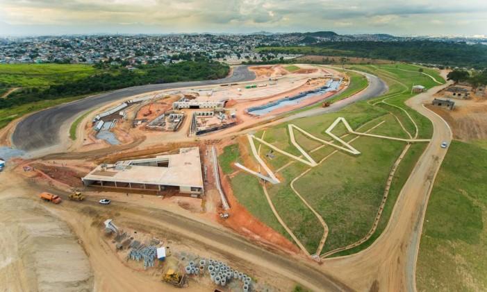 Parte do Complexo Esportivo de Deodoro durante as obras Foto: Reprodução
