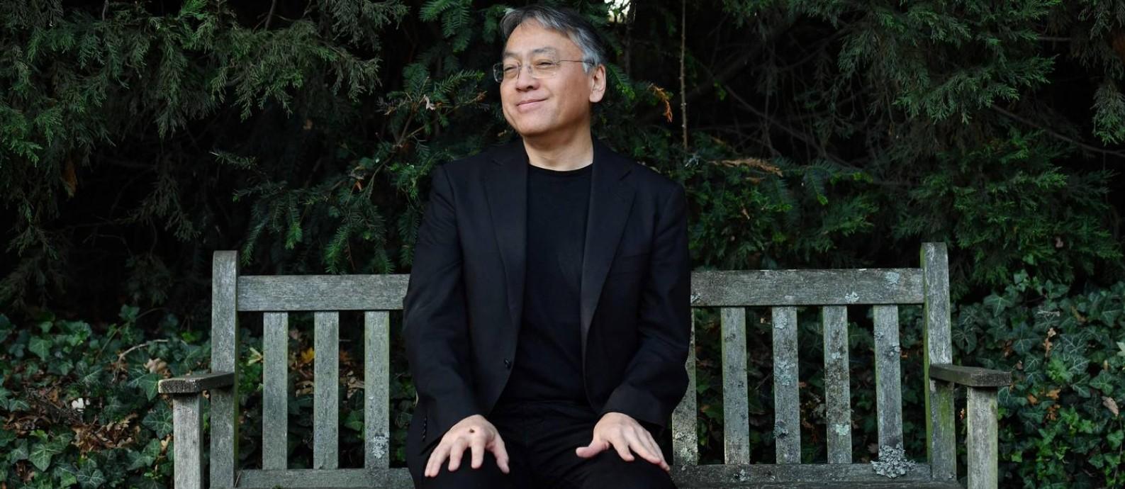 Kazuo Ishiguro vencedor do Prêmio Nobel de Literatura em 2017 Foto: BEN STANSALL / AFP