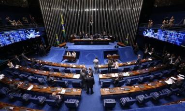 Plenário do Senado - 05/10/2017 Foto: Ailton de Freitas / Agência O Globo