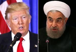 Trump e Rouhani: EUA e Irã têm escalado retórica Foto: Reuters