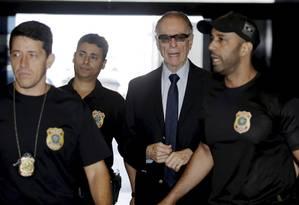 Carlos Arthur Nuzman chega à sede da Polícia Federal, nesta quinta-feira Foto: Gabriel Paiva