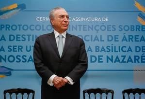 O presidente Michel Temer Foto: Divulgação 05/10/2017