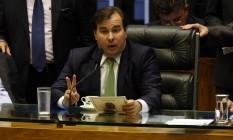 O presidente da Câmara, Rodrigo Maia (DEM-RJ) Foto: Givaldo Barbosa / Agência O Globo 03/10/2017