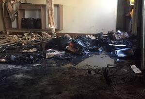 Creche municipal de Janaúba, no Norte de Minas Gerais, após o segurança atear fogo em crianças Foto: Polícia Civil/Reprodução