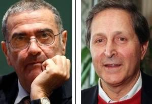 Haroche e Cohen-Tannoudji, vencedores do Prêmio Nobel de Física em 2012 e 1997, respectivamente Foto: Reuters e AP