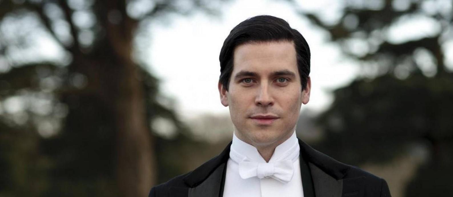 O ator Rob James Collier em 'Downton Abbey' Foto: Divulgação
