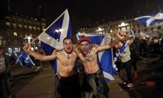 Manifestantes pró-independência escocesa do Reino Unido se manifestam em 2014 Foto: CATHAL MCNAUGHTON / REUTERS