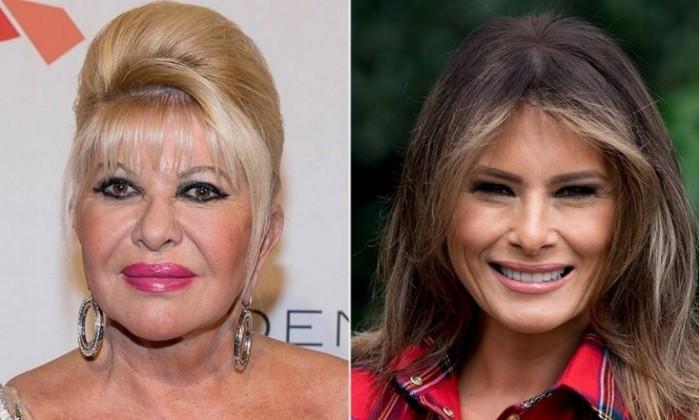 Ex-mulher de Trump diz ser 'primeira-dama' e Melania rebate