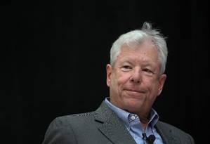O economista Richard Thaler University, vencedor do Prêmio Nobel de Economia de 2017 Foto: Scott Olson / AFP