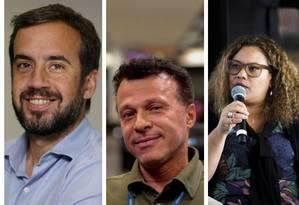 Pedro Dias Leite, Flavio Lino, Flavia Barbosa e Márvio dos Anjos fizeram redação no estilo do Enem Foto: Montagem - Agência O GLOBO