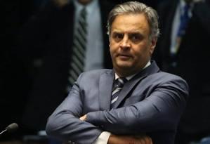 O senador afastado Aécio Neves (PSDB) Foto: Ailton de Freitas / Agência O Globo