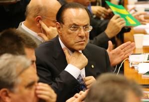 Paulo Maluf durante a comissão especial de Impeachment Foto: Ailton de Freitas / Agência O Globo