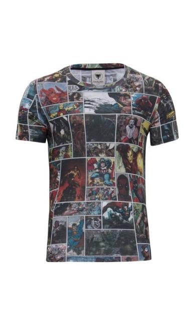 Camiseta masculina com personagens como Super Homem e Mulher-Maravilha da Cavalera (www.cavalera.com.br), R$ 179 Divulgação