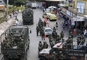 Forças Armadas fazem cerco à Rocinha, no Rio, em setembro Foto: Pablo Jacob / Agência O Globo 28/09/2017