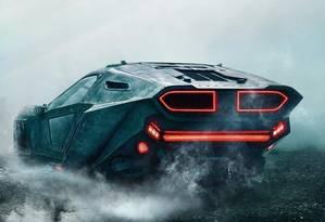 Replicante: o spinner do novo filme é Peugeot, mas tem algo de Lamborghini Countach Foto: Divulgação / Divulgação