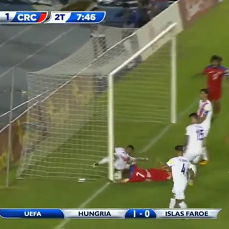 Bola não entrou, mas gol do Panamá foi validado Foto: Reprodução da TV