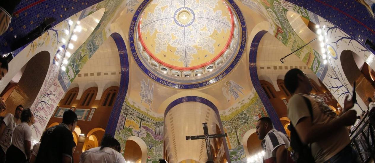 A cúpula da Basílica de Nossa Senhora Aparecida: inauguração com festa Foto: Marcos Alves