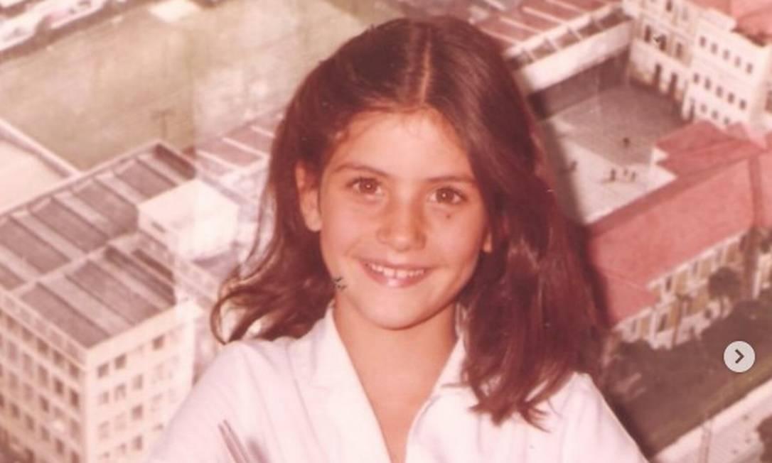 A modelo Isabella Fiorentino, em 1984 Instagram