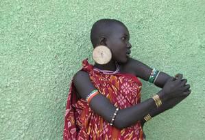 O povo Mursi possui uma das peles mais escuras no continente africano Foto: Alessia Ranciaro / Universidade da Pensilvânia