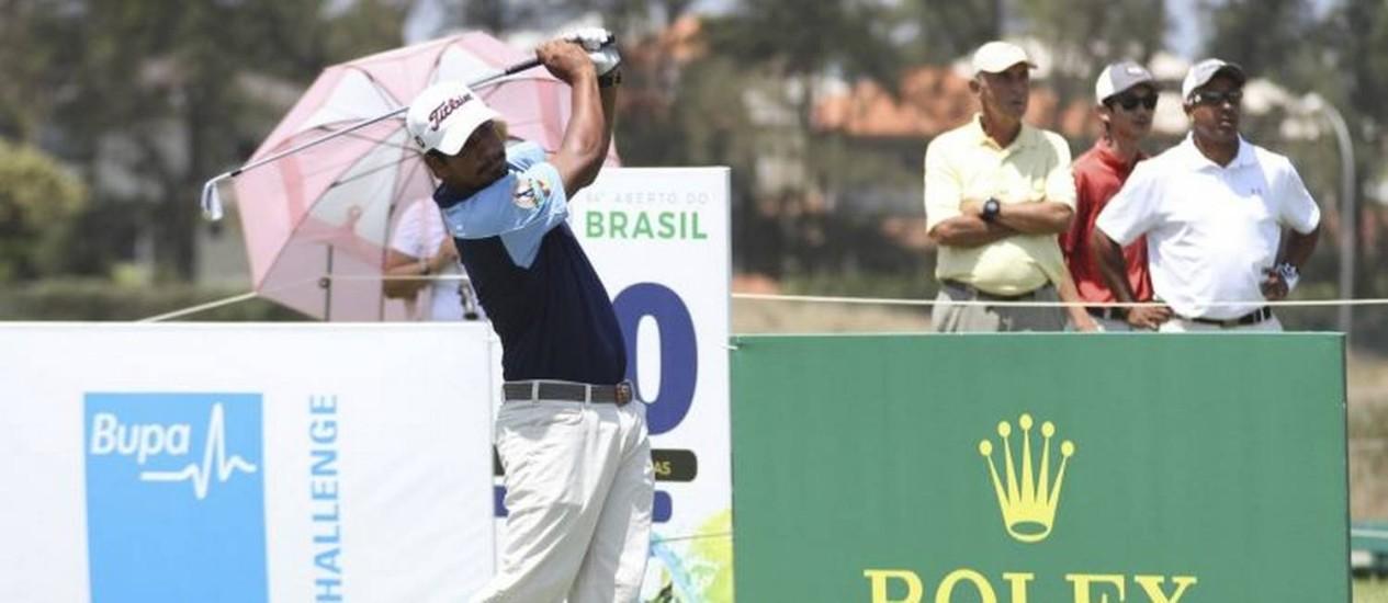 Concentração. Herik Machado no Aberto do Brasil, no Campo Olímpico Foto: Picasa / Gustavo Garrett/CBG/Divulgação