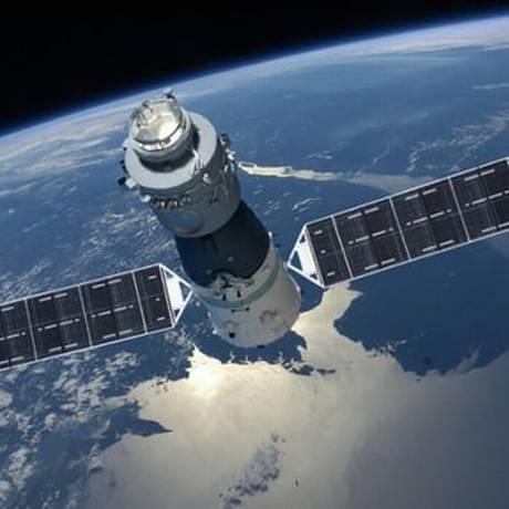 Com 8,5 toneladas, a Tiangong-1 ficou fora de controle no ano passado Foto: China's Manned Space Engineering