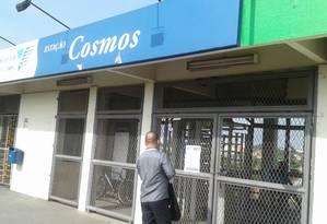 A estação de Cosmos é uma das que está fechada Foto: Foto do leitor