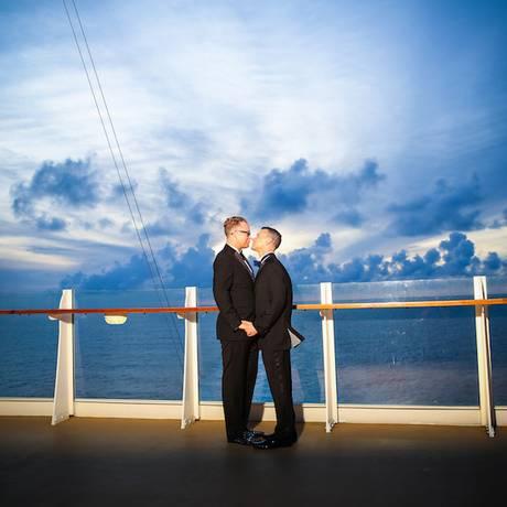 Passageiros se casam a bordo do navio Oasis of the Seas Foto: Alain M. Martinez / Divulgação