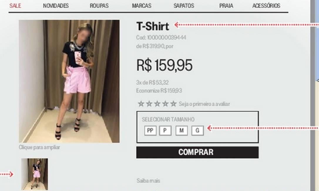 Na web, acertar tamanho de roupa é desafio - Jornal O Globo 3e12f3f7e7