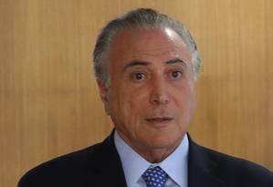 De acordo com delação de Funaro, Temer teria recebido parte da propina Foto: Ailton de Freitas / Agência O Globo