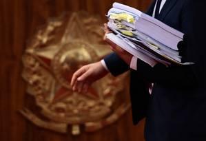 No julgamento da chapa Dilma-Temer, em junho, TSE rejeitou denúncia contra a a chapa vencedora na campanha de 2014, apesar de indícios de irregularidades levantados pelo relator do caso, ministro Herman Benjamin Foto: Jorge William / Agência O Globo 8-6-2017