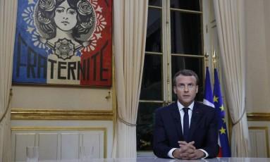 O presidente da França Emmanuel Macron Foto: Philippe Wojazer / AP