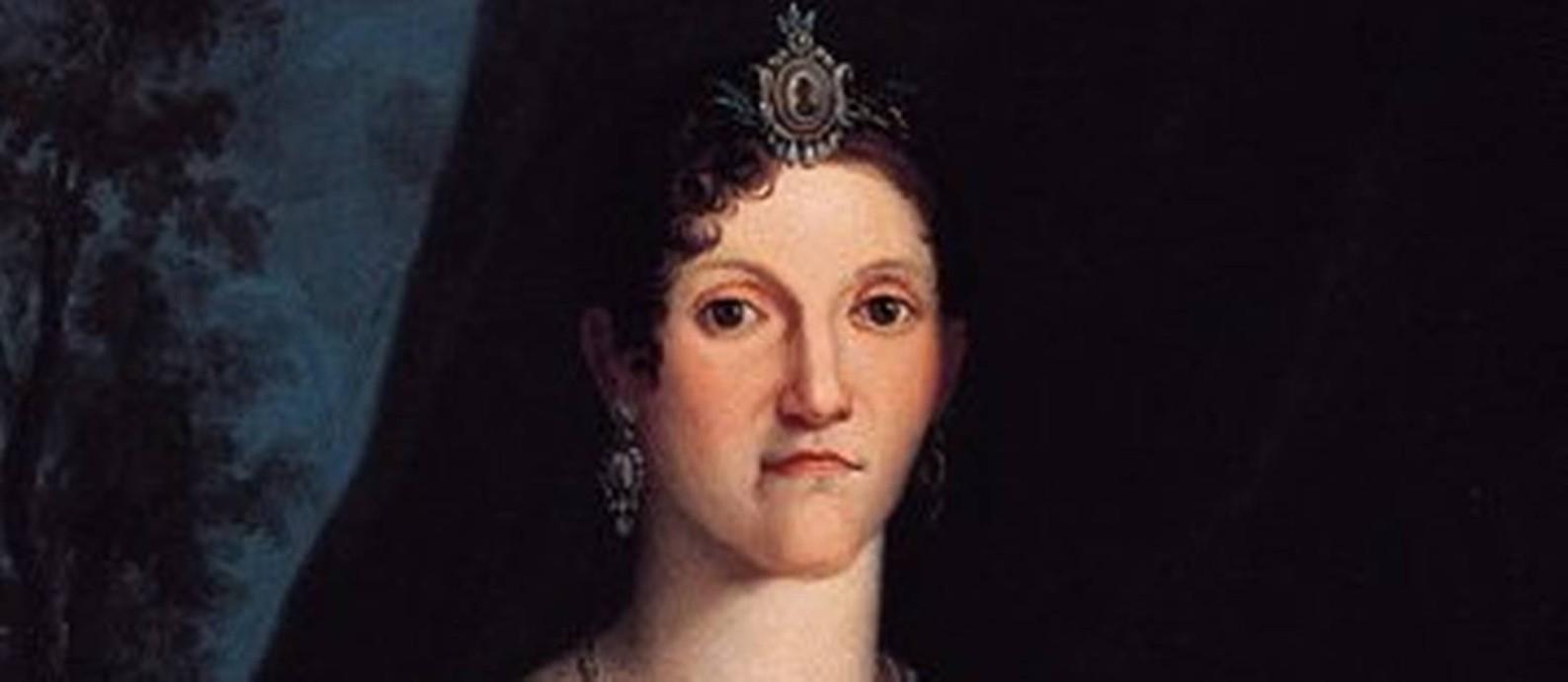 Pintura retratando a rainha Carlota Joaquina Foto: divulgação
