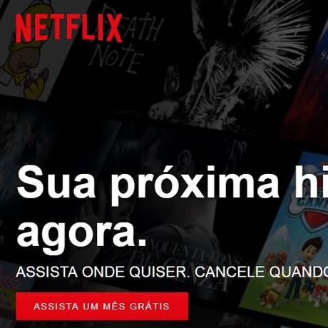 Pagina da Netflix Foto: Reprodução