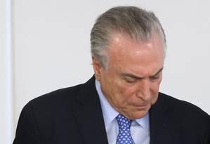 Presidente Michel Temer no Palácio do Planalto Foto: Ailton de Freitas / Agência O Globo