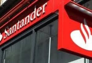 Logo do Santander Foto: Arquivo