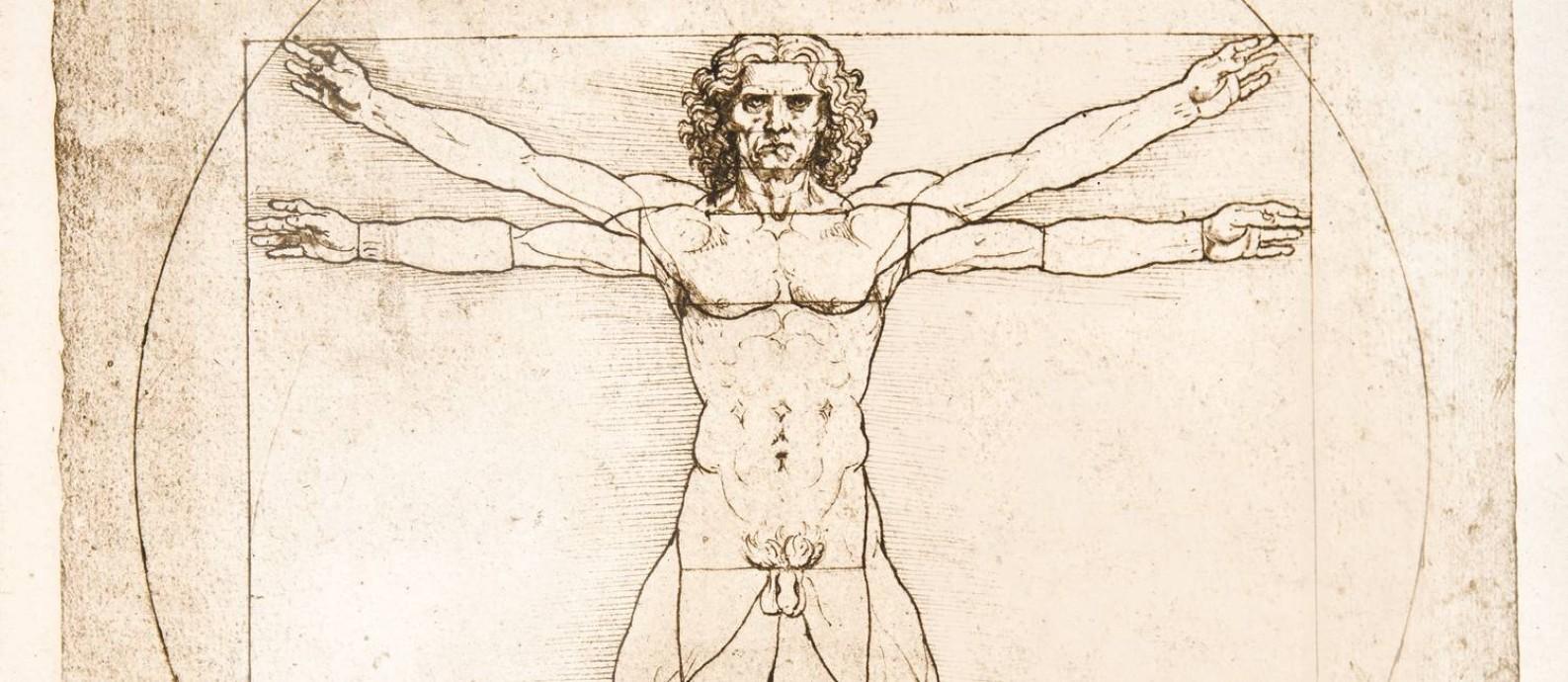 Homem Vitruviano, de Leonardo Da Vinci Foto: The Stapleton Collection / www.bridgemanimages.com