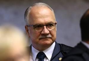 O ministro Edson Fachin, do Supremo Tribunal Federal Foto: Jorge William / Agência O Globo / 11-9-17