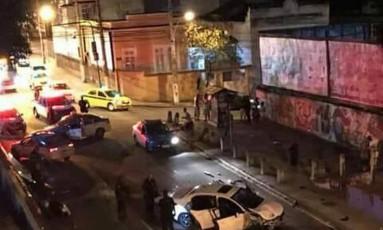 Rua Hermengarda, no Méier, depois de tiroteio Foto: Divulgação/PM