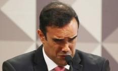 O procurador Ângelo Goulart Villela, que chegou a ser preso com base na delação da JBS, em depoimento à CPI da JBS Foto: Ailton de Freitas / Agência O Globo