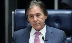 O presidente do Senado, Eunício Oliveira, durante sessão Foto: Ailton de Freitas/Agência O Globo/12-07-2017