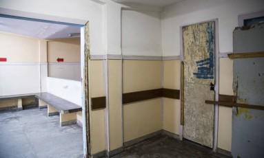 Área desativada no Hospital Municipal Raphael de Paula Souza, em Curicica, uma das unidades de referência no tratamento da tuberculose no Rio Foto: Bárbara Lopes