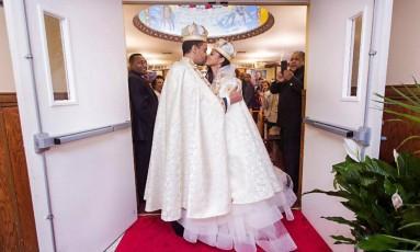 Ariana Austin e Joel Makonnen se casaram na Virgínia Foto: Reprodução/ Facebook Joel Makonnen