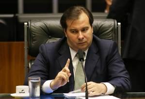 Presidente Rodrigo Maia. Sessão da Câmara dos Deputados Foto: Ailton de Freitas / Agência O Globo